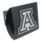 "University of Arizona Wildcats ""Black with Chrome ""A"" Emblem"" NCAA College Sports Metal Trailer Hitch Cover Fits 5.1cm Auto Car Truck Receiver"
