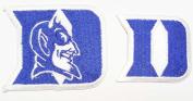 Duke University Blue Devils Embroidered Iron on Patch Set