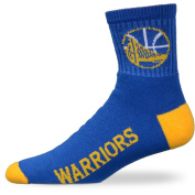 NBA Golden State Warriors Youth Team Colour Ankle Socks - Royal Blue/Gold