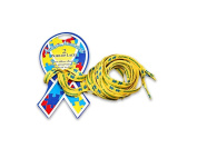 2 Pairs of Yellow Autism Awareness Shoe Laces