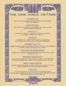 Nine Noble Virtues Print 8 1/2 x 11