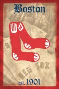 Red Sox -- Retro Logo Poster 60cm x 90cm