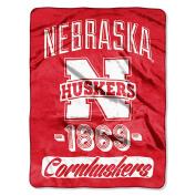 NCAA Nebraska Cornhuskers Varsity Micro Raschel Throw Blanket, 120cm x 150cm , Scarlet