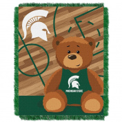 NCAA Michigan State Spartans Fullback Woven Jacquard Baby Throw Blanket, 90cm x 120cm