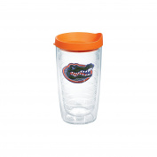 Tervis 1056681 Florida University Emblem Individual Tumbler with Orange lid, 470ml, Clear