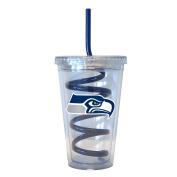 NFL Seattle Seahawks Tumbler with Swirl Straw, 470ml