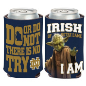 Notre Dame Fighting Irish Official NCAA 10cm Star Wars Yoda Insulated Coozie Can Cooler by Wincraft 157959