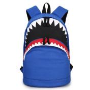 Urmiss 3D Cool Shark Canvas Backpack Book Bag School Backpacks Travel Bags for Teen Girls Boys Men Women Kids