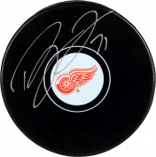 Dylan Larkin Detroit Red Wings Autographed Hockey Puck - Fanatics Authentic Certified - Autographed NHL Pucks