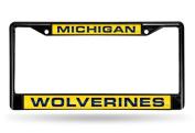 Michigan Wolverines Laser Black Licence Plate Frame