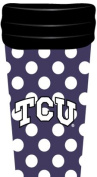 NCAA TCU Horned Frogs Coffee Tumbler Dots