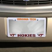 NCAA Virginia Tech Hokies Plastic Licence Plate Frame - White