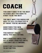 """Unframed Coach Motivational 8"""" x 10"""" Sport Poster Print"""