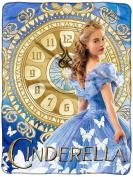 Disney Cinderella 2015 Clock Strikes Super Plush Throw 120cm x 150cm
