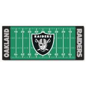 FANMATS NFL Oakland Raiders Nylon Face Football Field Runner