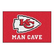 FANMATS 14321 NFL Kansas City Chiefs Nylon Universal Man Cave Starter Rug