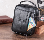 Leather Man Bag, Leather Man Bags Top-Handle Bag Holster Bag Waist Bag Small Messenger Bag Mobile Phone Holster with Handle/Shoulder Strap for Galaxy Note Series iPhone 7 Plus 6 Plus + Keyring
