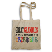 GREAT GRANDADS ARE BORN IN DECEMBER FUNNY Tote bag w71r