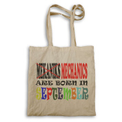 MEKANIKS MECHANICHS ARE BORN IN SEPTEMBER FUNNY Tote bag x54r