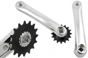 16 TEETH TRIALS BIKE TINY CHAINRING & CRANK SET ALLOY COTTERLESS IDEAL PROJECT
