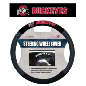 NCAA Ohio State Buckeyes Poly-Suede Steering Wheel Cover Auto Accessories 38cm x 38cm