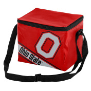 NCAA Ohio State Big Logo Stripe Cooler (6 Pack), One Size, Team Colour
