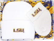 LSU Tigers Newborn Baby Cap and Socks Gift Set