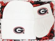 Georgia Bulldogs Newborn Baby Cap and Socks Gift Set