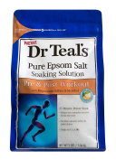 Dr Teal's Pure Epsom Salt Soaking Solution for Pre and Post Workout with Magnesium Sulphate and Menthol, 1.36 kg