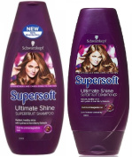 Schwarzkopf Supersoft Ultimate Shine Superfruit Shampoo 400ml + Supersoft Ultimate Shine Superfruit Conditioner 250ml