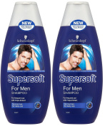 2x Schwarzkopf Supersoft Shampoo for Men 400ml