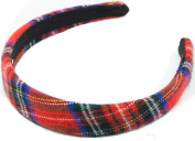 Mytoptrendz® Classic Tartan Headband Padded Tartan Alice Headband Hair Band Headband Red Classic Tartan Print Women Girls Hair Accessories