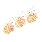 36 x Small Mini Baby Blonde Snag Free Endless Hair Elastics / Bobbles/ Ponios