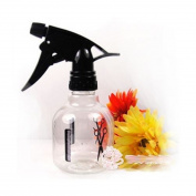 VWH Spray Bottle Black Plastic Spherical Shape For Hair Beauty
