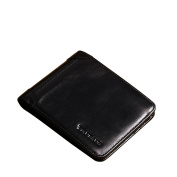 Men's Genuine Cowhide Leather Extra Capacity Bifold Wallet