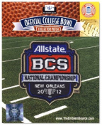 2012 Allstate BCS National Championship Game Patch