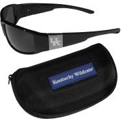 NCAA Kentucky Wildcats Chrome Wrap Sunglasses & Zippered Carrying Case