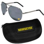 NCAA Iowa Hawkeyes Aviator Sunglasses & Zippered Carrying Case