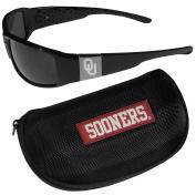 NCAA Oklahoma Sooners Chrome Wrap Sunglasses & Zippered Carrying Case