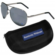 NCAA Kentucky Wildcats Aviator Sunglasses & Zippered Carrying Case