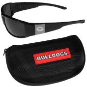 NCAA Georgia Bulldogs Chrome Wrap Sunglasses & Zippered Carrying Case