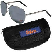 NCAA Florida Gators Aviator Sunglasses & Zippered Carrying Case