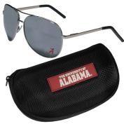 NCAA Alabama Crimson Tide Aviator Sunglasses & Zippered Carrying Case