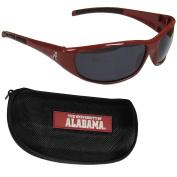 NCAA Alabama Crimson Tide Wrap Sunglasses & Zippered Case, Maroon