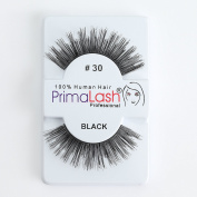 100% Human Hair False Lashes by PrimaLash Professional STYLE 30- Handmade Strip Lashes