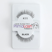 100% Human Hair False Lashes by PrimaLash Professional STYLE 213- Handmade Strip Lashes