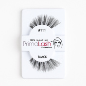 100% Human Hair False Lashes by PrimaLash Professional STYLE 111- Handmade Strip Lashes