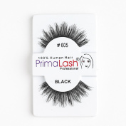 100% Human Hair False Lashes by PrimaLash Professional STYLE 605- Handmade Strip Lashes