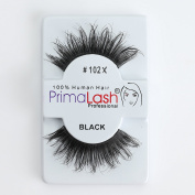 100% Human Hair False Lashes by PrimaLash Professional STYLE 102X- Handmade Strip Lashes
