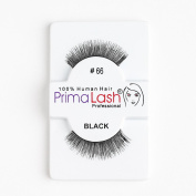 100% Human Hair False Lashes by PrimaLash Professional STYLE 66- Handmade Strip Lashes